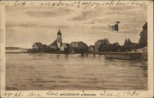 Wasserburg a Bodensee Germany c1920 Postcard