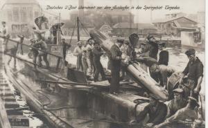 RP: U-Boats (Submarines) Crew Loading a torpedo , Germany , 00-10s