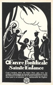 Beautiful Vintage French Postcard, Oeuvre Pontificale de la Saint-Enfance