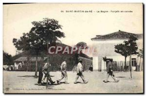 Old Postcard Steam Bagnard Saint Martin de Re The penal colony in Forcats cho...
