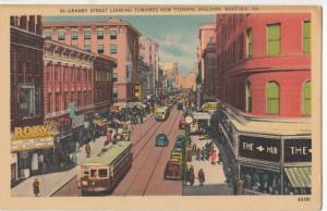 Granby Street looking towards New Federal Building, Norfolk, VA, used Postcard