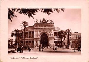 Italy Old Vintage Antique Post Card Palermo Politeama Garibaldi 1949