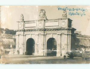 old rppc PORTE BOMBES Floriana - Furjana - Borgo Vilhena By Valletta Malta i2616