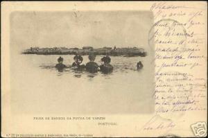 portugal, Praia de Banhos da Povoa de Varzim 1903 Stamp