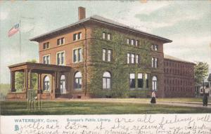 TUCK #5590; WATERBURY, Connecticut; Bronson's Public Library, PU-1908