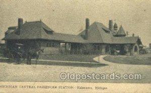 Central Depot, Kalamazoo, MI, Michigan USA Train Railroad Station Depot 1909 ...