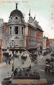 London New Gaiety Theatre Strand Trucks Carriages Cars 1909