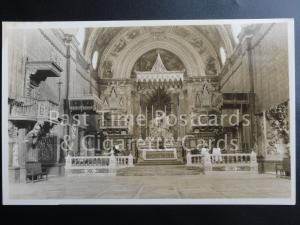 Old RPPC Malta: Interior of St. John's Church, Valletta
