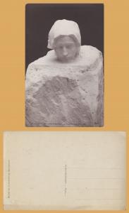 RPPC - Luxemburg Museum, Rodin Statue  - a Pensee