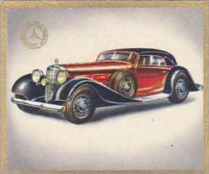 Garbaty Cigarette Card Cars Of Today No 126 Mercedes Benz MB 380  5 Seat Spor...