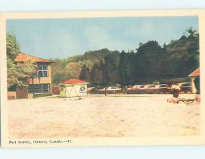 1950's BEACH SAND AREA Port Stanley - Near St. Thomas & London Ontario ON i1648