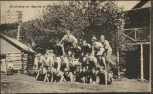 East Hampton CT Campers Make Pyramid Camp Wopowog 1919 Postcard