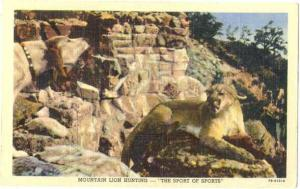 Linen of Mountain Lion Hunting - Sport of Sports
