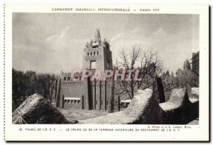 Paris - International Exposition Coloniale 1931 - The Palace O F L A View fro...
