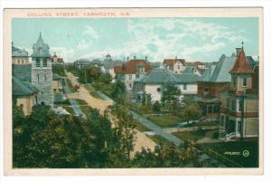 Nova Scotia  Yarmouth   Aerial view of Collins Street
