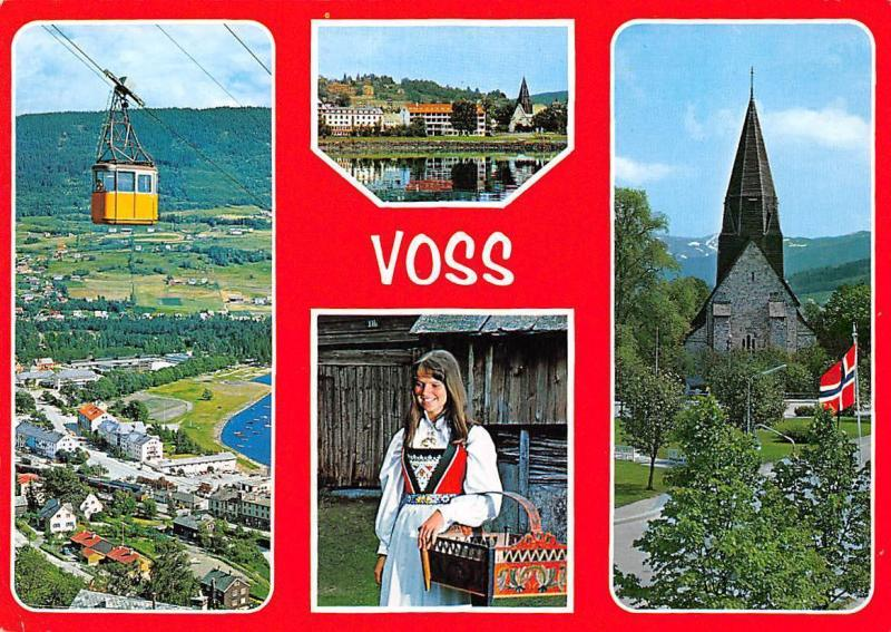 Norway Voss Traditional Costume Cable Car Church