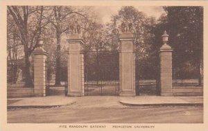 New Jersey Princeton Fitz Randolph Gateway Princeton University Albertype