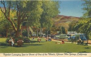 Gilman's Hotel Hot Springs California 1949 Postcard roadside Teich linen 12573