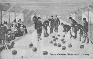 br105498 canadian winter sports curling  canada
