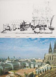 Wallraf Richartz Museum Germany Aerial Art Gallery Real Photo 2x Postcard
