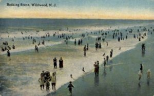 Bathing Scene in Wildwood, New Jersey