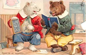 Bear Post Card Old Vintage Antique Raphael Tuck & Sons, No 118 Little Bears U...