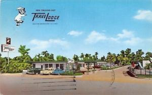 New Orleans Louisiana~East TraveLodge Motel~Sleepwalking Bear Sign~1950s Cars~PC