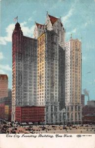 City Investing Building, Manhattan, New York City, Early Postcard, Unused