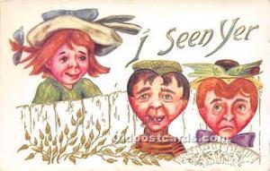 Vinegar Valentine Post Cards, Old Vintage Antique Postcards I seen yer Unused