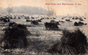 North Dakota Fort Ransom Farm Scene 1911