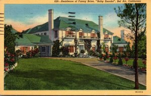 California Bel Air Residence Of Fanny Price Baby Snooks 1947 Curt...