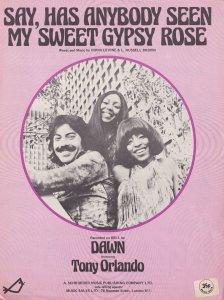 Dawn Say Has Anybody Seen My Sweet Gypsy Rose 1970s Sheet Music