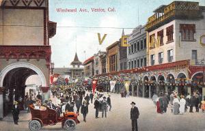 Windward Ave., Venice, California, Early Postcard, Unused
