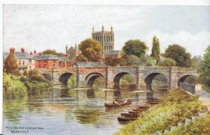 Herefordshire Postcard - Wye Bridge and Cathedral    A3002