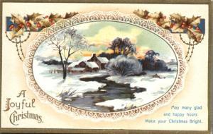 Joyful Christmas - Rural Winter Scene - International Art Publishing - DB