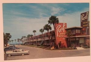 Reef Beach Motel Daytona Florida Postcard RPPC