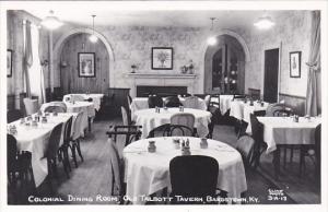 Interior Colonial Dining Room Old Talbott Tavern Bardstown Kentucky Real Photo