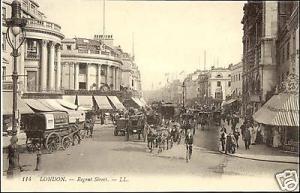 london, LONDON, Regent Street, Horse Cart 1910s