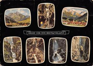 Gruss von der Breitachklamm Kanzel Wasserfall Oberstdorf Zwingsteg Walsertal
