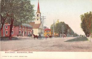 Westminster Massachusetts Main Street Church Antique Postcard J51381