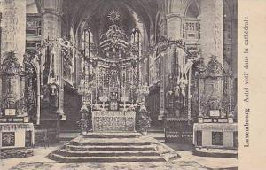 Interior, Autel Votif Dans La Cathedrale, Luxembourg, 1900-1910s