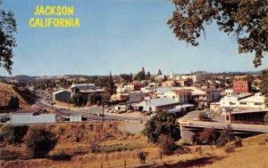 JACKSON, CA Amador County Highway 49 & 88 Mining Town c1960s Vintage Postcard