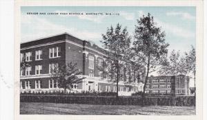 MARINETTE, Wisconsin, 1930-1940´s; Senior and Junior High School