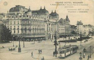 Grand Hotel wagner tramway Anvers Belgium Antwerpen Belgique