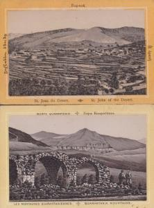 Quarantania Mountains St John Jean Du Of The Desert 2x Postcard s