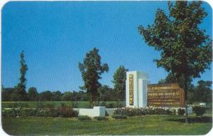 Entrance to Park of Roses North High St Columbus OH 1956