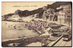 Old Postcard Marseille The Corniche The Prophet Tramway