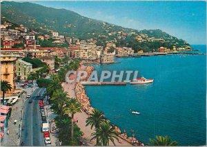 Postcard Modern Golfo Tigullio Rapallo View of the Promenade along the sea