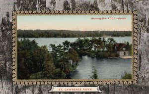 ST. LAWRENCE RIVER, Ontario, Canada, 1900-10s; Among the Thousand Islands