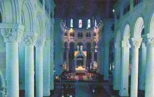 Canada Quebec Ste Anne De Beaupre The Interior Of The Basilica